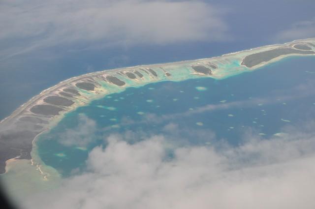 photo aerienne de la polynesie