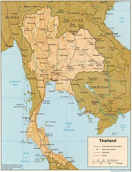 Carte Thailande Sud Ouest.Guide De Voyage De La Thailande En Francais Carte