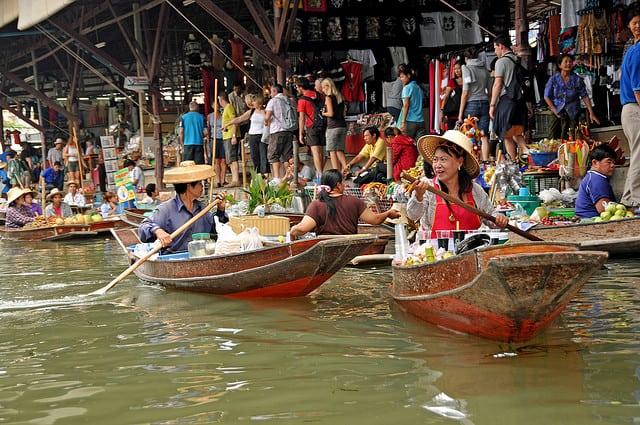 marche flottant a bangkok