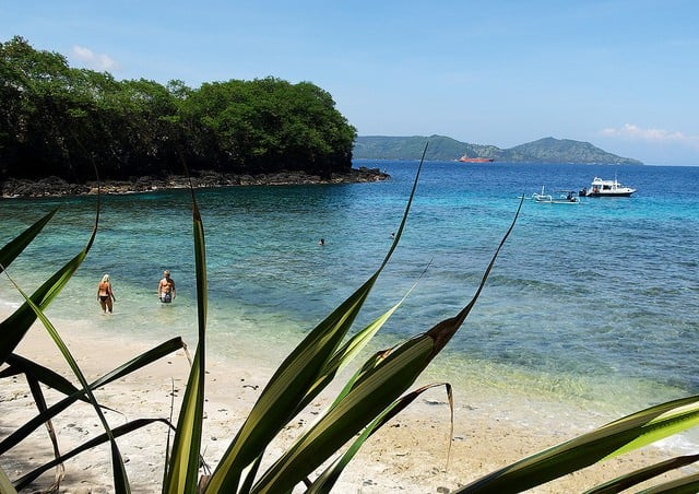 Plage de snorkeling de Blue Lagoon, Padang Bai (Bali, Indonésie)