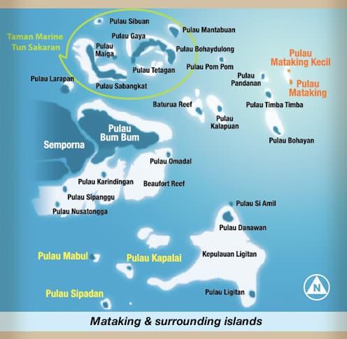 Carte de Pulau Mataking Malaisie