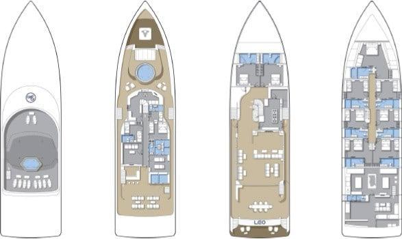 MV Blue Force One croisiere plan du bateau
