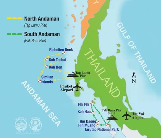 Thailand aggressor itineraire de croisiere