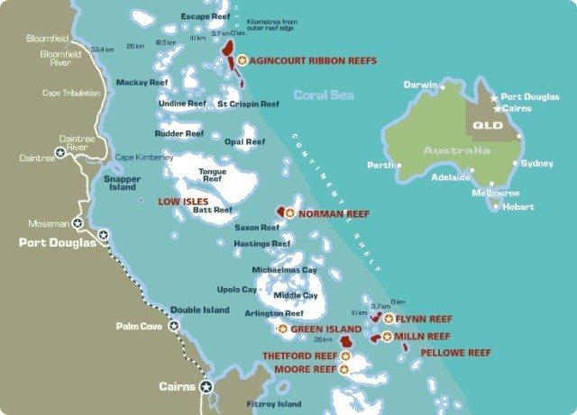 Carte Australie Grande Barriere De Corail.Meilleures Croisieres De Plongee Sur La Grande Barriere De