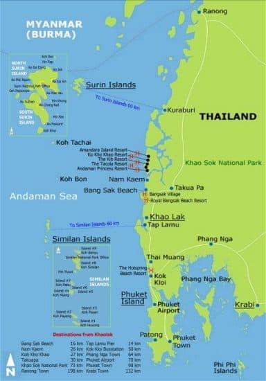blog voyage carte khao lak thailande