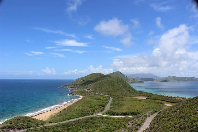 nag head where the altlantic and caribbean sea meet, st kitts scuba diving