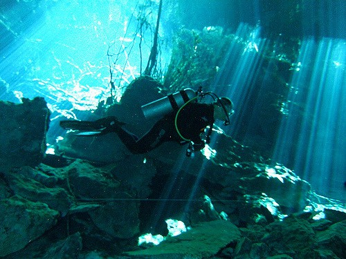 plongee cenote mexique